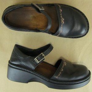 "Naot US 6 6.5 EU 37 Women Mary Jane Clog Heel 2"""
